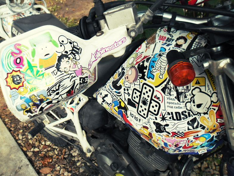 Виниловые наклейки на мотоцикл