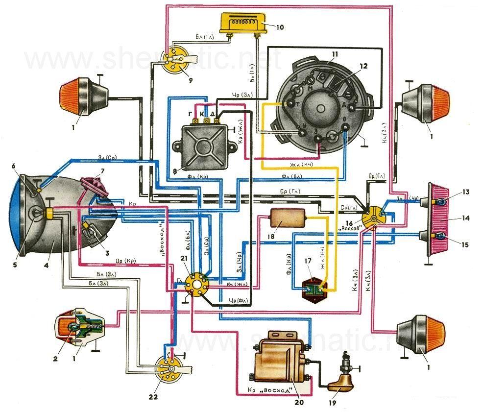Схема электрооборудования мопеда Минск