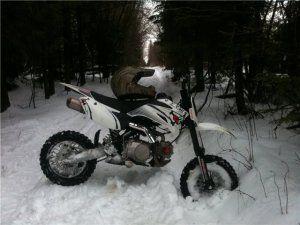 Завести мотоцикл зимой