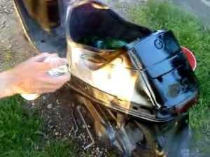 Покраска скутера из балочника