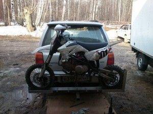 Перевозка кроссового мотоцикла