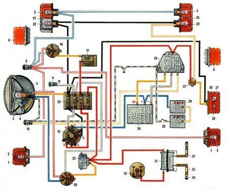 Схема подключения зажигания на