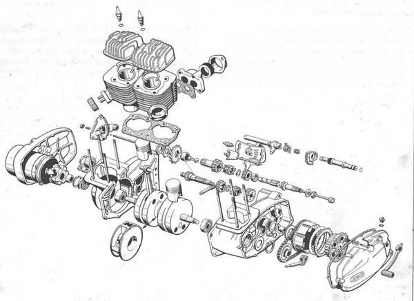 чертеж двигателя ЯВА 638