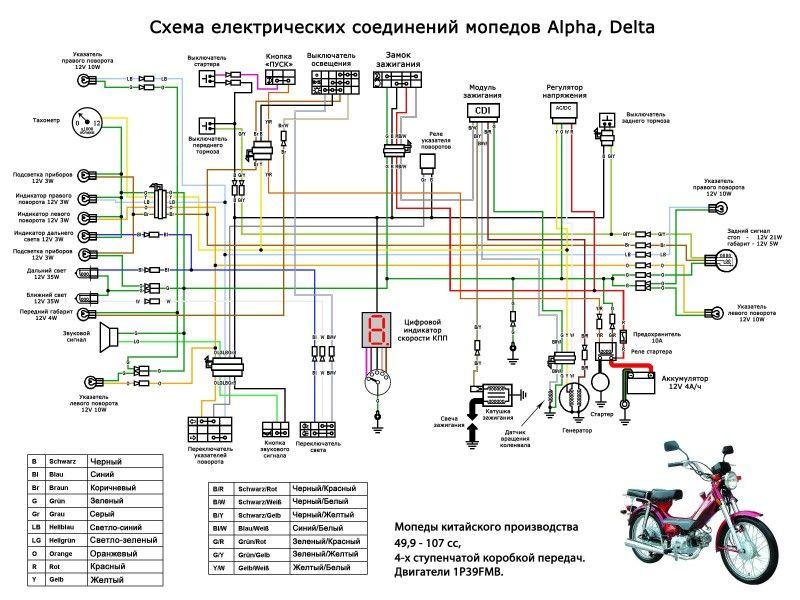 Схема электроборудования на Дельте