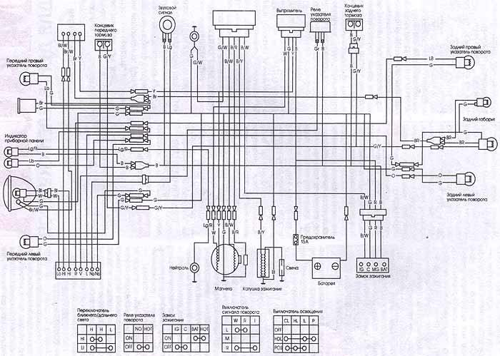 Схема проводки мопеда Дельта