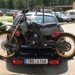 Багажник для перевозки мотоцикла
